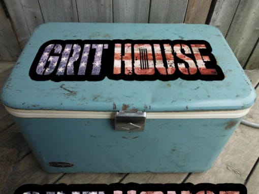 Grit House Faded Americana Decal