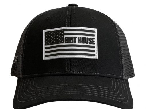 Grit House Hat | Grey Mesh Flag