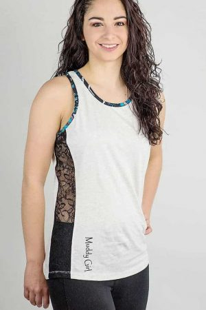 Side Lace Tank Top | Serenity Camo