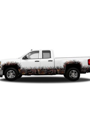 WIldfire Camo Regular Cab Wheel Wells and Rocker Panel Camo Grass