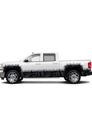 Harvest Moon Camo Extended Cab- Wheel Wells and Rocker Panel Camo Grass