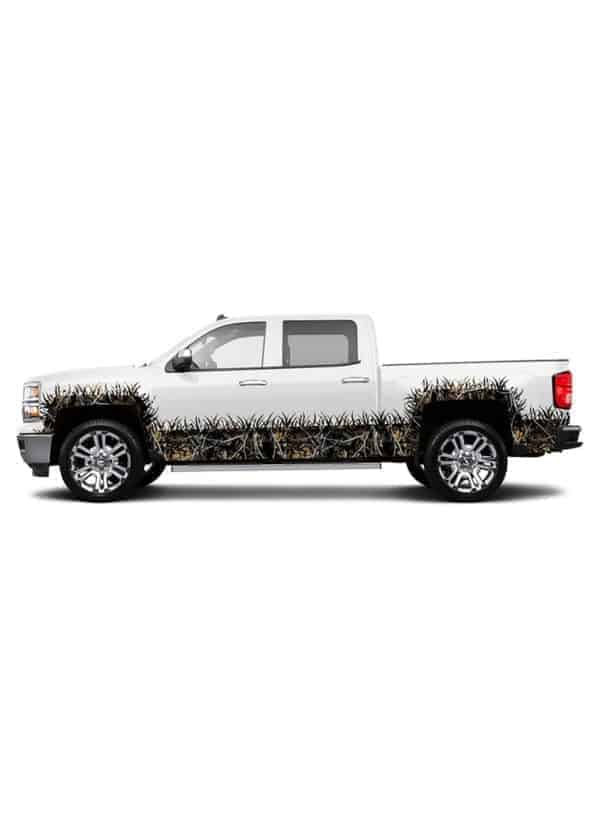 Outshine Camo Extended Cab- Wheel Wells and Rocker Panel Camo Grass