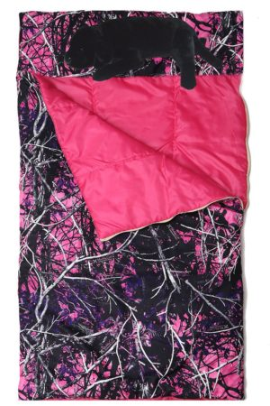 Muddy Girl Slumber Bag with Lab Pillow